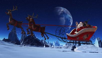 Santas Sleigh (Colour)