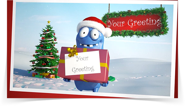 Holiday Barny eCard - Thumbnail