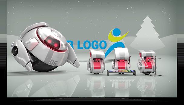 Holiday Robot eCard - Thumbnail