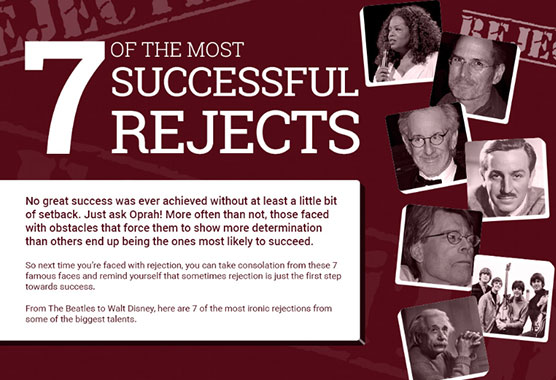 7 of the most successful rejects - Blog thumb