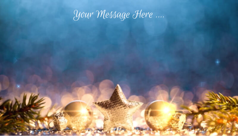 gold and blue decorations ecard design