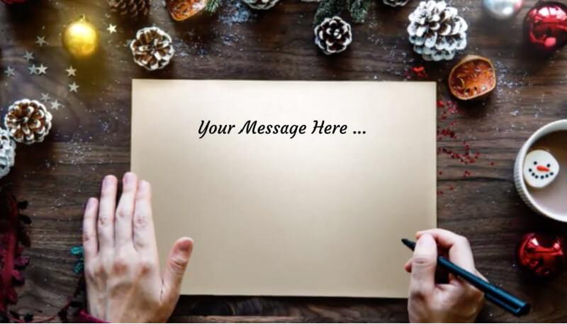 christmas sign ecard design