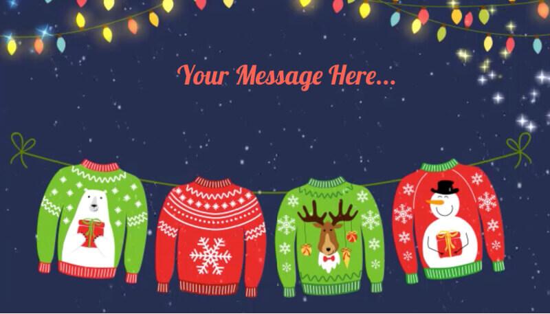 christmas sweaters ecard design