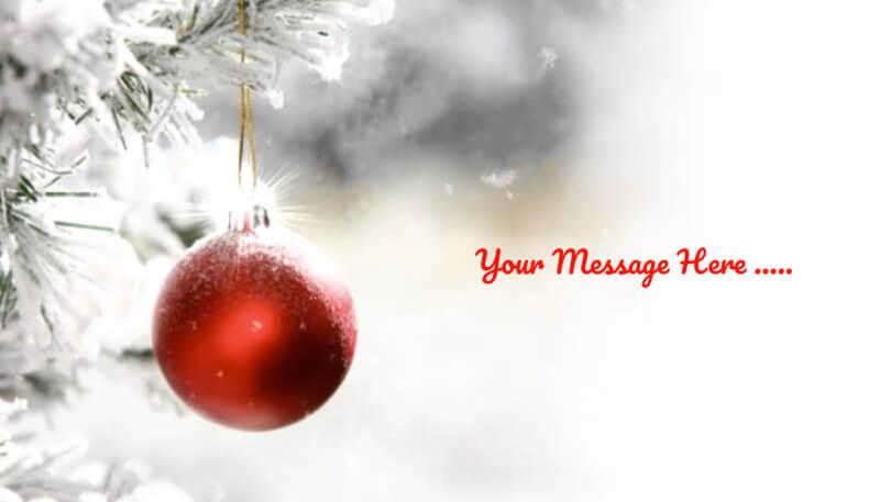Holiday baubles ecard design