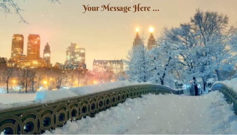 snowy central park ecard design