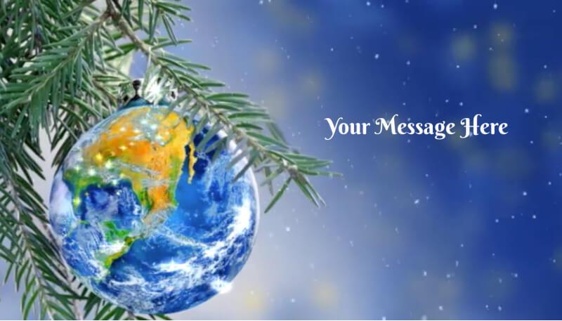 Wordly Christmas Tree Ecard Design